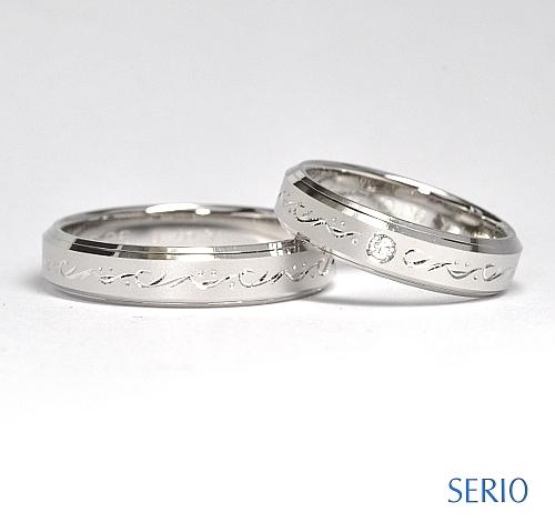 お洒落なマリッジリング 結婚指輪NO.34