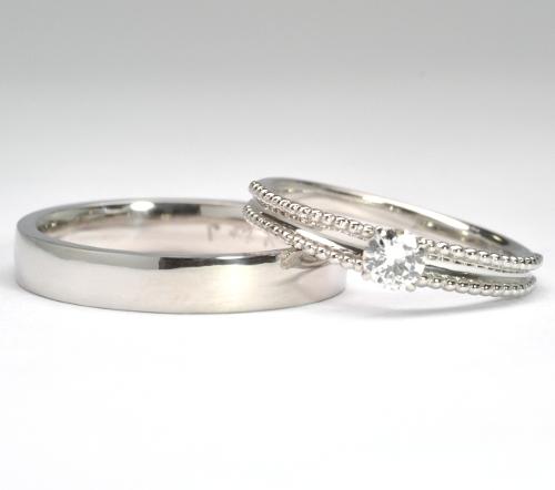 お手持ちのジュエリーをリフォームして結婚指輪へ 結婚指輪NO.19