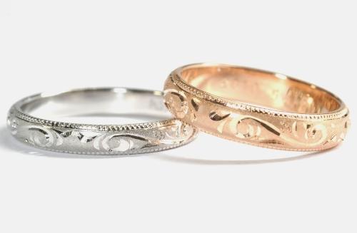 手彫り・手造りのオリジナル結婚指輪(マリッジリング)
