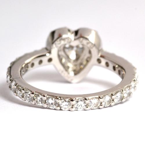 婚約指輪エンゲージリングハートダイヤ