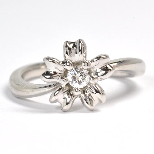 サクラモチーフ・オーダーメイド婚約指輪