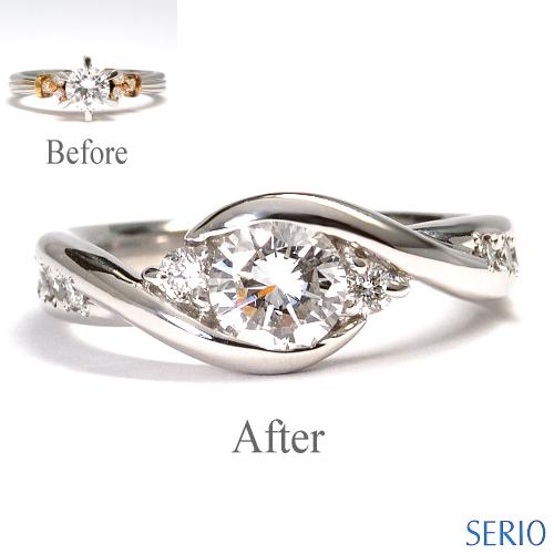 お母様から譲り受けた指輪をエンゲージリングへリフォーム