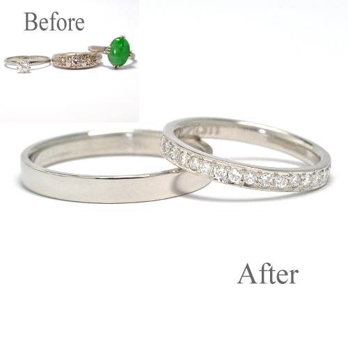 指輪を溶かして製作・オーダーメイド・結婚指輪【鍛造製作】