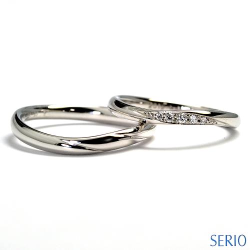 シンプルで上品なプラチナ・マリッジリング(結婚指輪)