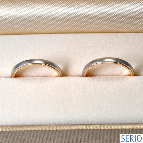 プラチナとピンクゴールドを使用したオーダーメイド・マリッジリング